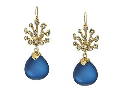 Alexis Bittar Crystal Burst Wire Drop Earrings (Pacific) Earring