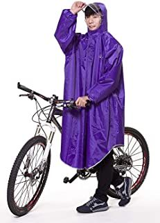 Alupper ポンチョ レインコート 雨具 自転車 バイク用 ロング 男女兼用 レディースメンズ用 通勤通学 フリーサイズ 軽量 完全防水 収納袋付き