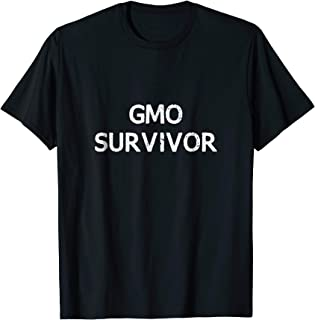 GMO Survivor Dark Colors T Shirt White Text