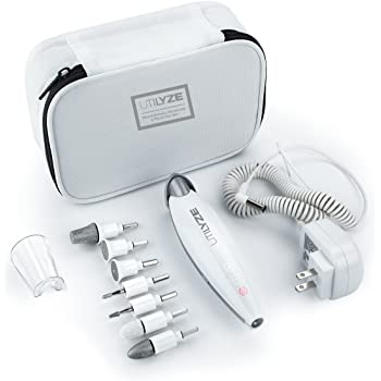 UTILYZE 10-in-1 Professional Electric Manicure & Pedicure Set, Powerful Nail Drill Kit, 10-Speed System, Innovative Touch Control, Tools to File, Buff, Smooth, Shine Nails, Remove Cuticles & Callus