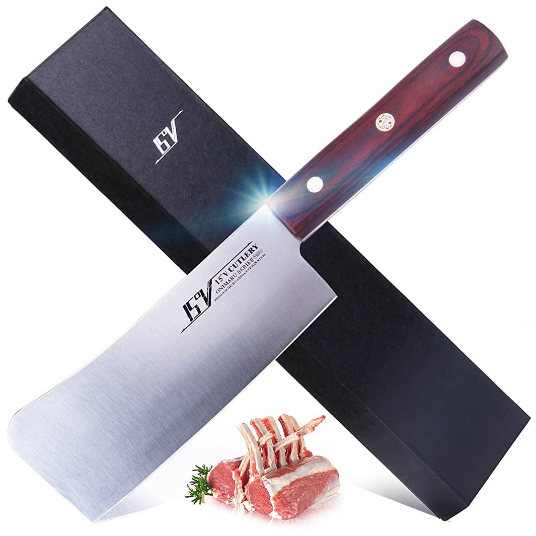 TUO Cutlery chopping Knife for kitchen - High Carbon German 1.4116 Stainless Steel - Meat Vegetable Cleaver Knife - Ergonomic Full Tang Pakkawood Handle - ONIMARU Series - 6''