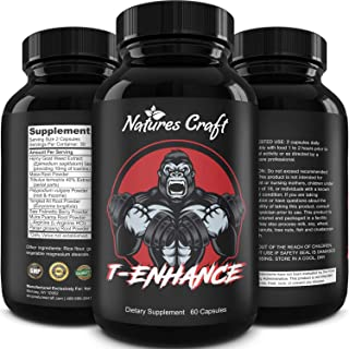 Best Natural Testosterone Booster for Men - Male Enhancement Supplement Estrogen Blocker Energy Pills for Enlargement Musc...