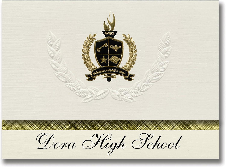 Signature Ankündigungen Dora High School (Dora, Nm) Graduation Ankündigungen, Presidential Stil, Basic Paket 25 Stück mit Gold & Schwarz Metallic Folie Dichtung B0795S7RRV | Zu einem niedrigeren Preis
