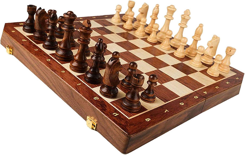 MNBV Chess Set Wooden Creep Max 48% OFF Folding - New item