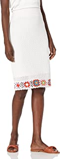 BCBGeneration womens Crochet Midi Skirt Skirt