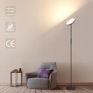 Lampadaire LED Salon, Lampadaire Interieur Variable Avec Télécommande, Noir 24 W