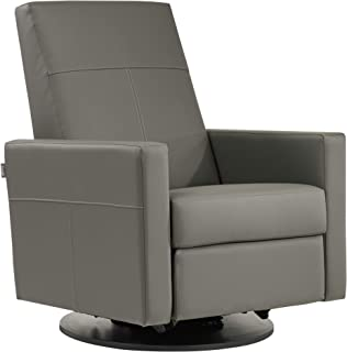 Dutailier Minho 0439 Upholstered Glider Recline and Swivel with Built-in Footrest