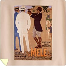 E and A Mele and CIE - Massimo BUON Mercato Vintage Poster (Artist: Dudovich) Italy c. 1910 60042 (88x88 Queen Microfiber Duvet Cover)