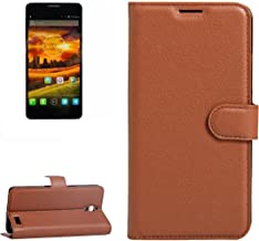 Mobile Phone Cases & Covers, For Alcatel One Touch Idol X / 6032 / OT-6032 Litchi Texture Horizontal Flip Leather Case with Holder & Card Slots & Wallet (Color : Brown)