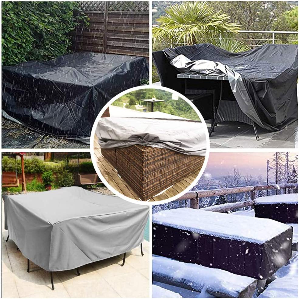 Square//Rectangular Outdoor Furniture Cover for Rattan Cube Table Chair Sofa,Black,90 x 90 x 90cm Patio Table Cover Garden Furniture Covers Made of Waterproof Polyester Fabric Windproof