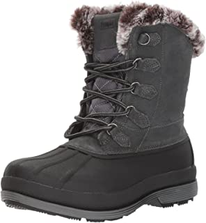 Propet Women's Lumi Tall Lace Snow Boot, Grey, 6 2E US