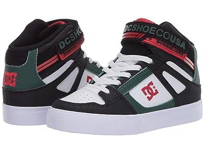 DC Kids Pure High-Top EV (Little Kid/Big Kid) (Black/Green) Boys Shoes