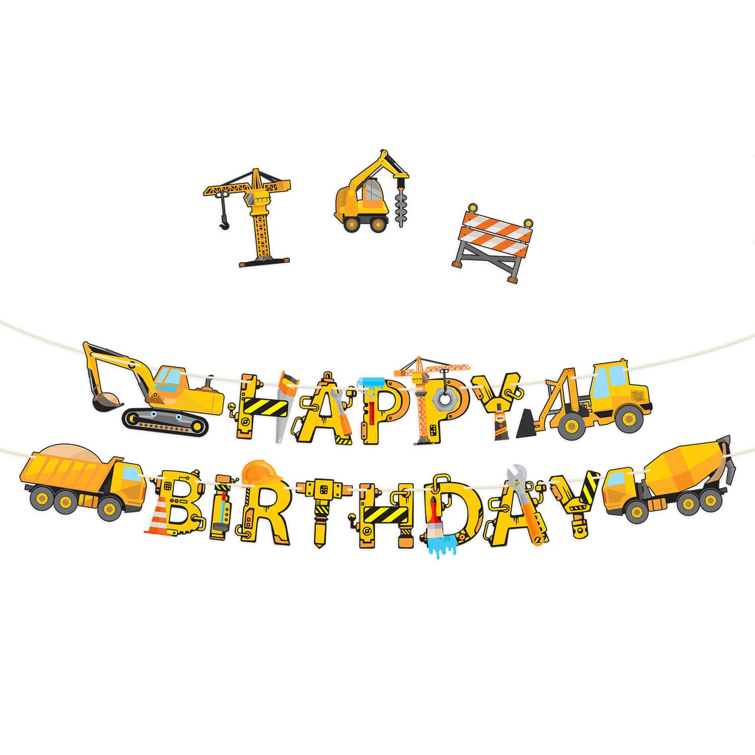 Construction Birthday Party Supplies Chicago Mall - OFFicial store Banner Pre-Assemb Premium