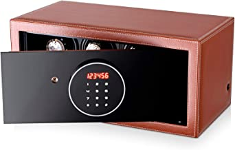 Watch Winder Security Safe for Automatic Watches with Digital Lock, Faux Leather Finish and Interior Backlight