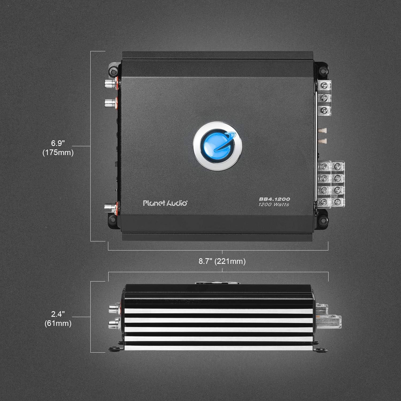 4000 Watts MOSFET Power Supply Planet Audio BBD4000 Class D Car Amplifier Digital Monoblock 1 Ohm Stable