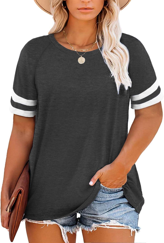 DOLNINE Plus Size Sweatshirts for Women Long Sleeve Oversized Tunic Tops