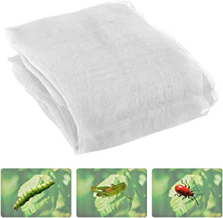 Anphisn 2 Pack Garden Insect Screen Insect Barrier Netting Mesh Bird Netting 9.8ft × 6.5 ft (White)
