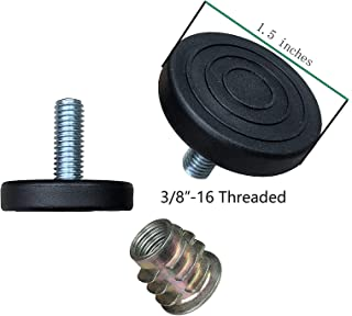 Furniture Levelers with Screw-in Nuts-8 Pack| Furniture Feet | Heavy Duty Adjusting Foot | 1