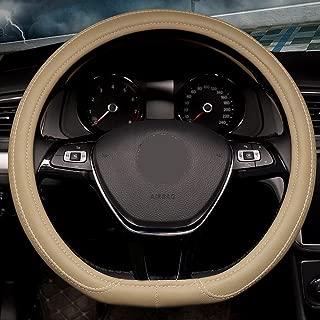 Rayauto 38cm 15inch D Type Flat Bottom motile car Steering Wheel Cover PU Leather Streamline