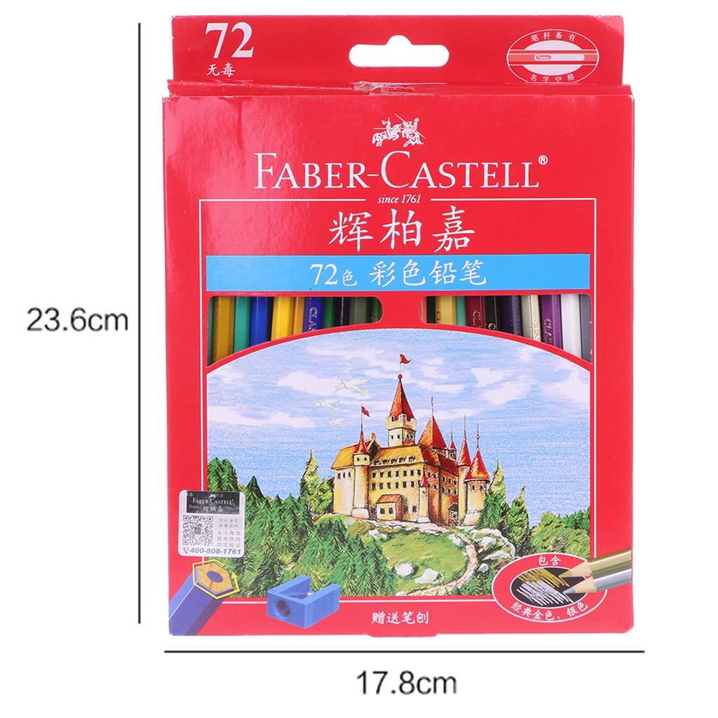 BINGHONG3 72 lápices de colores Faber Castell, lapislázuli de Cor Professionals, pintura al óleo, lápiz de color con estuche enrollable de lona para dibujar bocetos, suministros de arte: BINGHONG3: Amazon.es: Hogar
