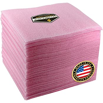 1//8 Thick FD1812AS 175 L x 12 W Pink Aviditi Polyethylene Anti-Static Air Foam Dispenser Pack