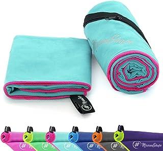 NirvanaShape  Mikrofaser Handtücher | saugfähig, leicht, schnelltrocknend | Badehandtücher, Reisehandtücher, Sporthandtücher | Ideal für Reisen, Fitness, Yoga, Sauna