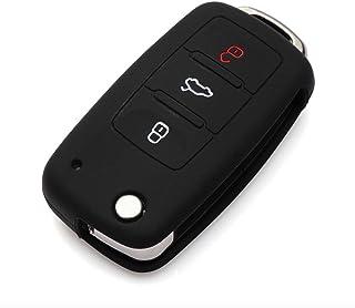 Funda para llave VW Volkswagen Jetta Vento Passat Beetle Tiguan, Seat Ibiza - VW Volkswagen Car key cover, funda para llave de auto silicona 3 botones - Accesorio para auto - disponible en color negro mate
