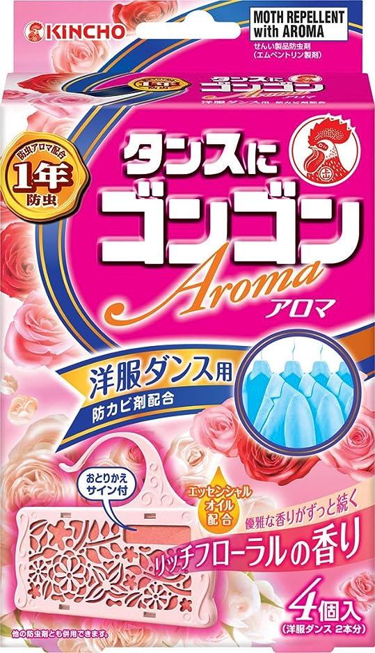 ボトルアクチュエータキャップゴンゴン アロマ 洋服ダンス用 4個入  リッチフローラルの香り