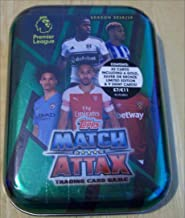 2018/2019 Topps ENGLISH PREMIER LEAGUE Match Attax Soccer Cards MINI TIN. 45 Cards Including a Limited Edition Card + 9 Special Shiny Cards.