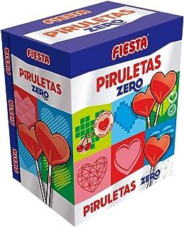 FIESTA Piruletas Zero Caramelo con Palo en Forma de Corazón