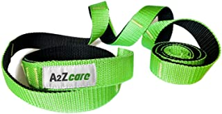 A2ZCARE Yoga Stretch Strap with Multi-Loop 76 inches Long - Exercise Stretching Strap for Yoga Practice, Pilates Exercise, Dance, Fitness and Physical Therapy Rehab