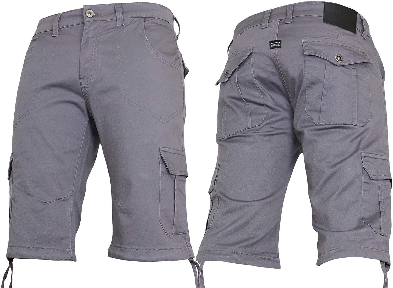 Von Denim Mens Boys Cargo Camo Combat Denim Summer Camouflage Half Knee Shorts King Big Sizes