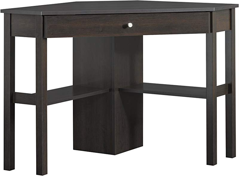 Sauder 412314 Beginnings Corner Computer Desk L 45 95 X W 23 39 X H 29 92 Cinnamon Cherry Finish