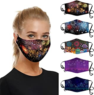 Padaleks Face_Cover_Mask Mouth Cloth With Filter Pocket Fashion Print Washable Reusable Breathable Outdoor Dustproof