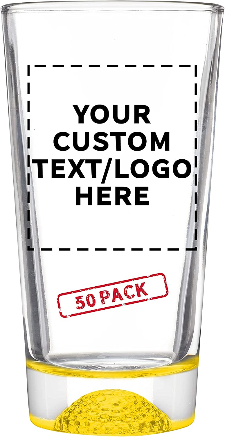 50 Libbey Golf Our shop OFFers the best service Pint Glasses Set - 16 Personalized Log oz. Text Sales