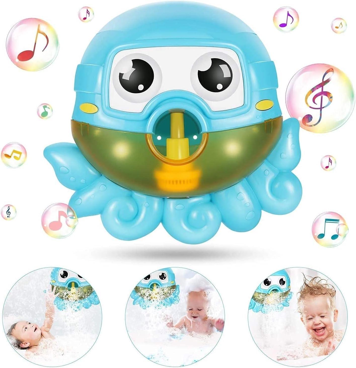 Bubble Bath Toys, Automatic Octopus Music Bubble Machine with 42