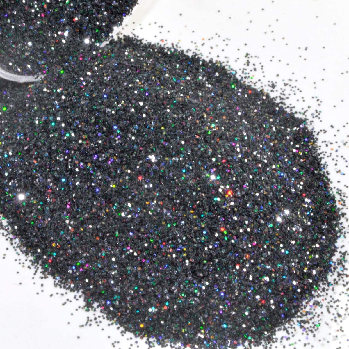 Gabcus At the price of surprise Holographic Laser Black Nail Chrome Shiny Po Special Campaign Glitter Dust