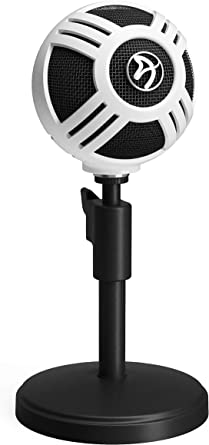 Arozzi Sfera USB Microphone for Gaming & Streaming, White
