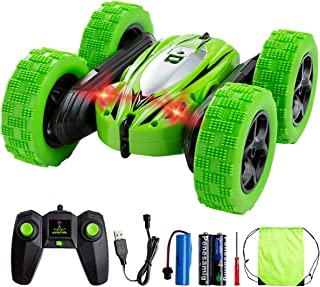 RC Cars Remote Control Car, Minsk 4WD Double Sided Rotating Vehicles 360°Flips Toy Cars -2.4GHz High Speed Off Road Monster Trucks for Boys & Girls Birthday (3 Battery Included)