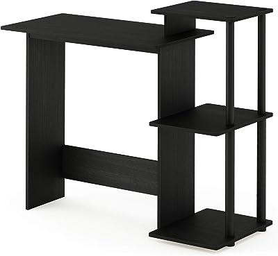 Towerfach Druckerablage und Tastaturauszug lifestyle4living Computertisch in Walnuss-Nachbildung 90//72//48 cm Ma/ße: B//H//T ca