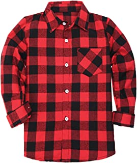 red and black small check shirt