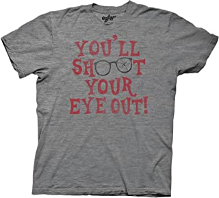 A Xmas Story Shoot Your Eye Out Red Type Black Glasses Adult T-Shirt