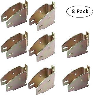 ATPTOOL 10 Pack E Track Wood Beam Socket Fittings,E Track Beam Socket,E-Track Accessories Wood Beam Brackets,Cargo Storage Lumber Bracket for Cargo Control Shelf Brackets,Cargo Trailer