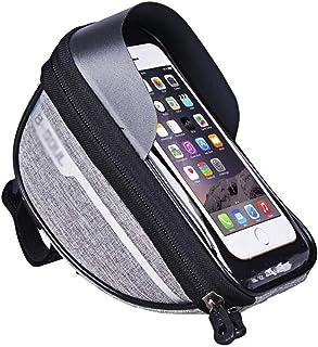 Le devant de la charte de vélo, le sac de guidon, le sac de téléphonie mobile, le sac horizontal de la route de montagne à...