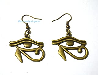 EyeEarrings jewelry,Egyptian jewelry Antique bronze ,Egyptian earrings Third Eye Earrings earring gift,Gift for her