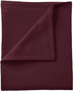 Port & Company Core Fleece Sweatshirt Blanket OSFA Maroon