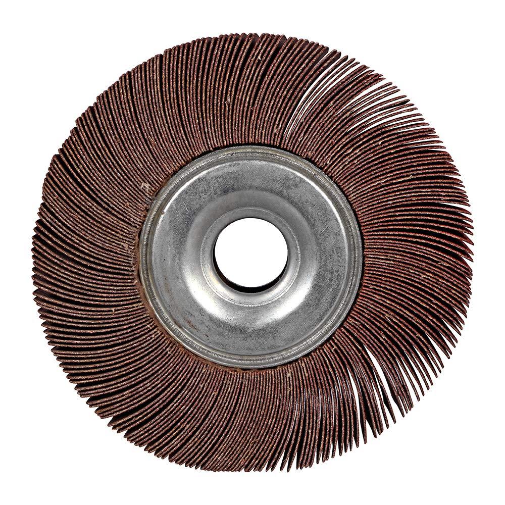 "5 Pack 6/"" x 1/"" x 1/"" Inch 120 Grit Bench Pedestal Grinder Unmounted Flap Wheel"