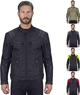 Viking Cycle Ironborn Motorcycle Textile Jacket for Men Black