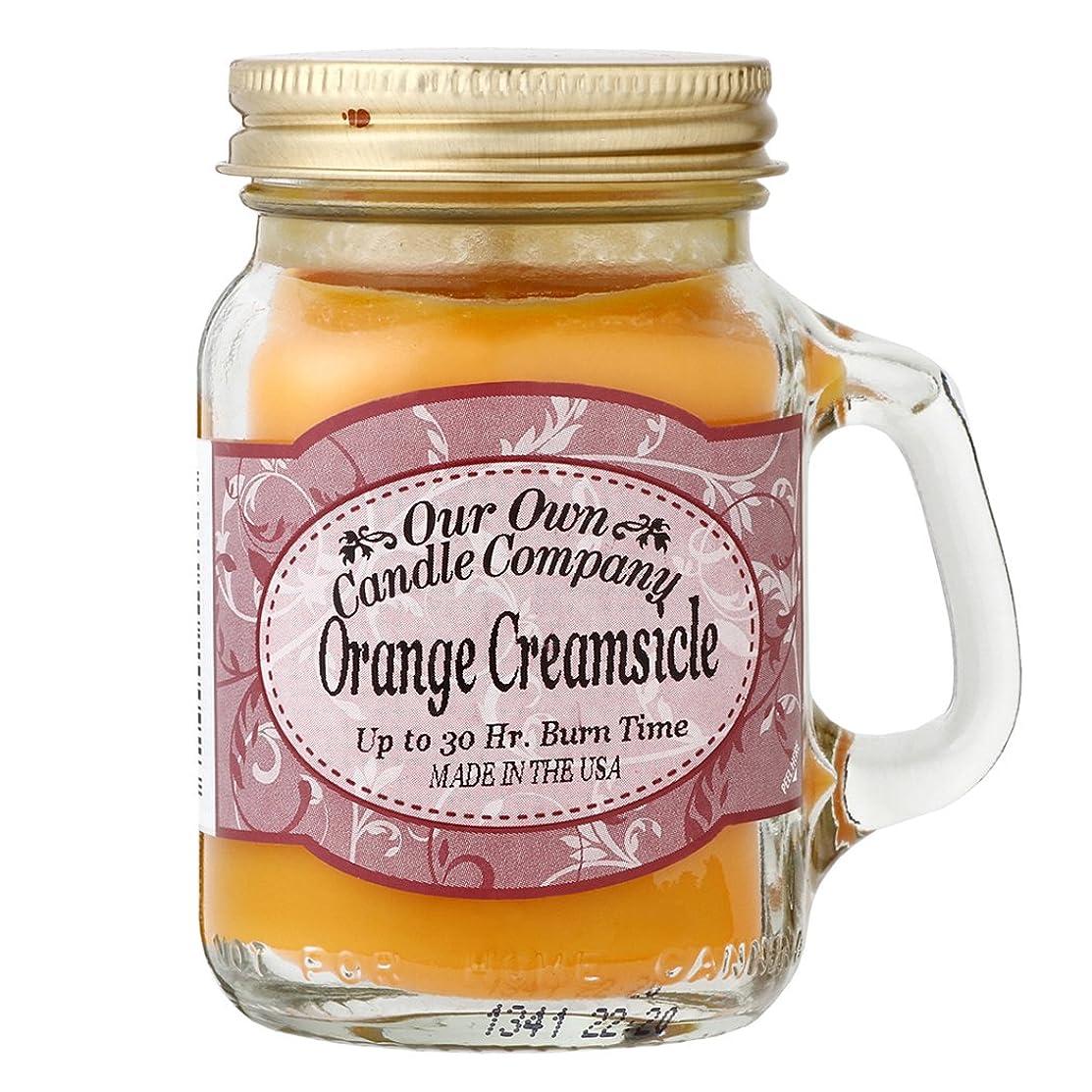 船員実施する有罪Our Own Candle Company メイソンジャーキャンドル ミニサイズ オレンジクリームシルク OU200085