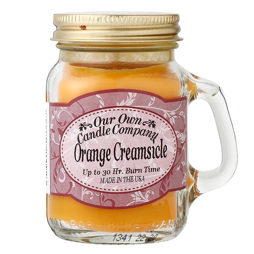 ひねくれたおめでとう比率Our Own Candle Company メイソンジャーキャンドル ミニサイズ オレンジクリームシルク OU200085